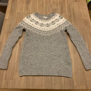 Garage Grey Fair Isle Sweater XS